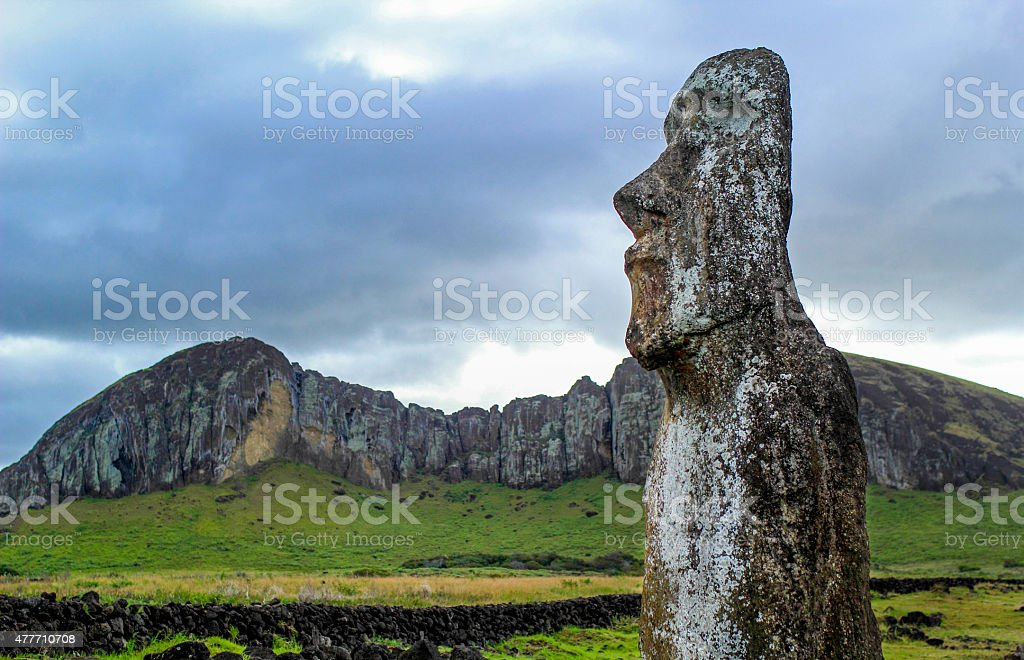 Moai, easter island stock photo