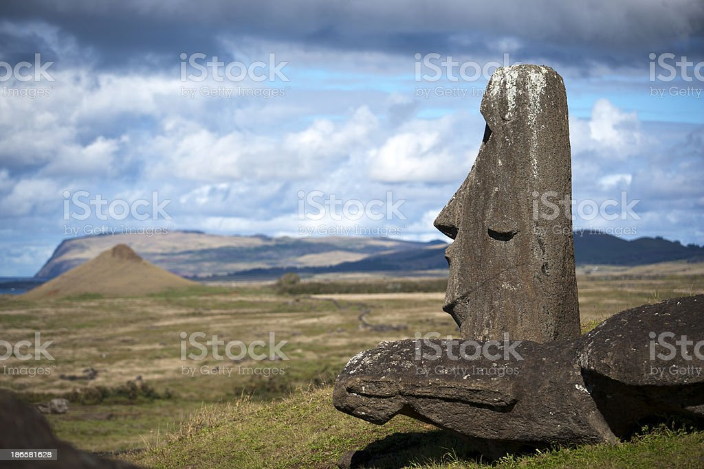 Moai Looking at the Sea royalty-free stock photo