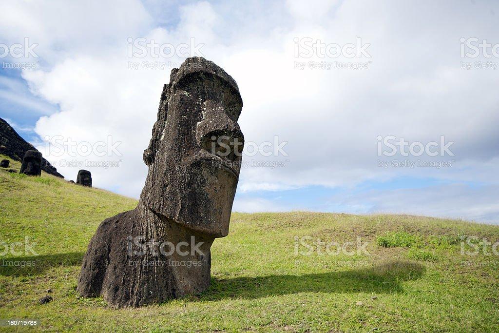 Moai royalty-free stock photo