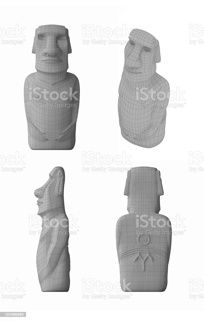 3D Moai stock photo