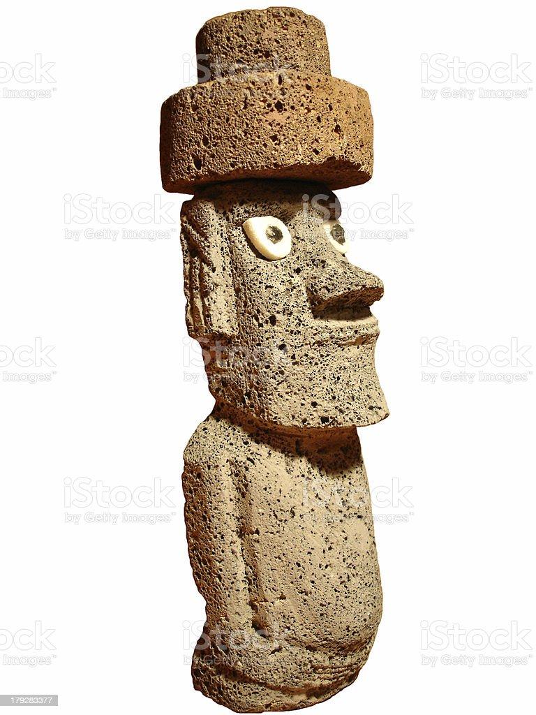 Moai sculpture royalty-free stock photo