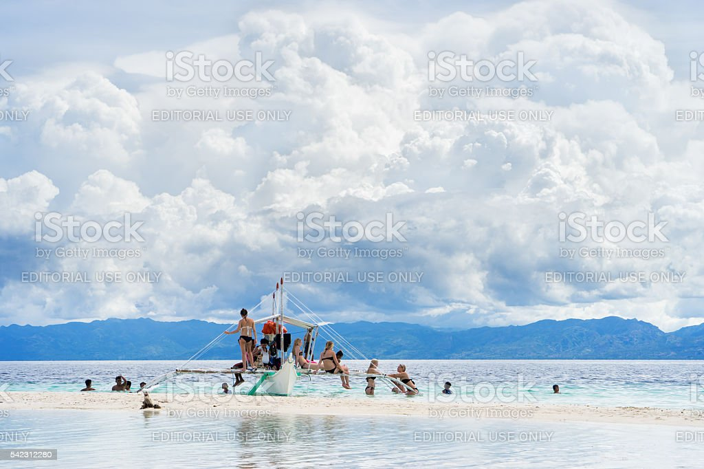 Moalboal. Cebu. Philippines. - 24 june 2016: Asian people with stock photo