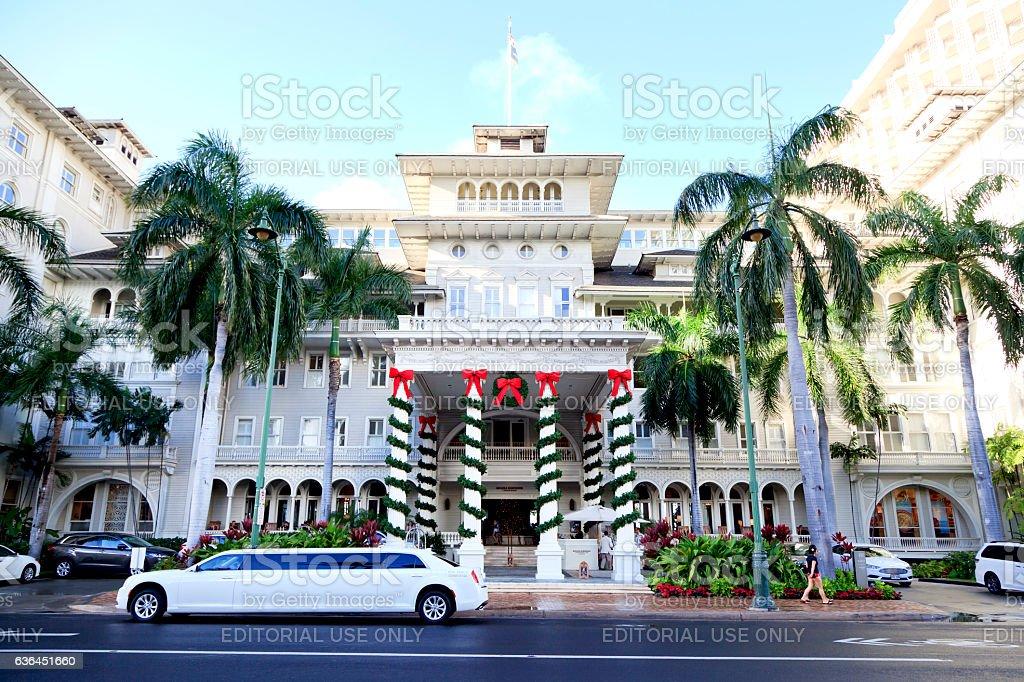 Moana Hotel stock photo