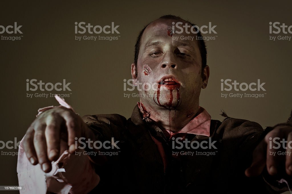 moaning zombie stock photo