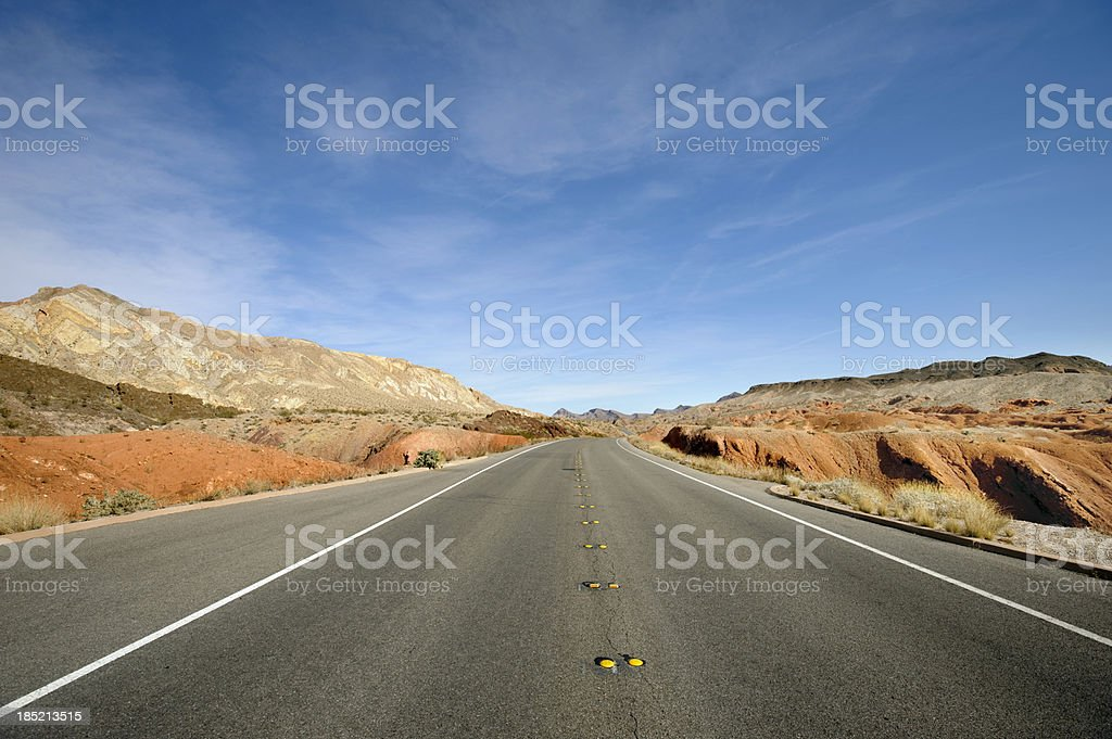 moapa desert highway stock photo