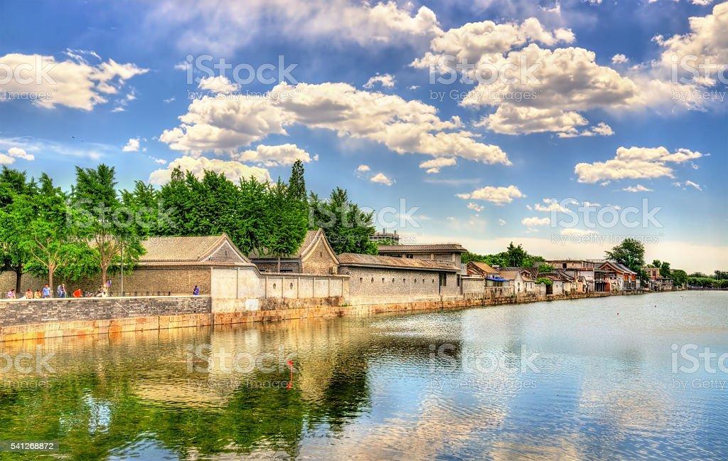 Moat around the Forbidden City - Beijing stock photo