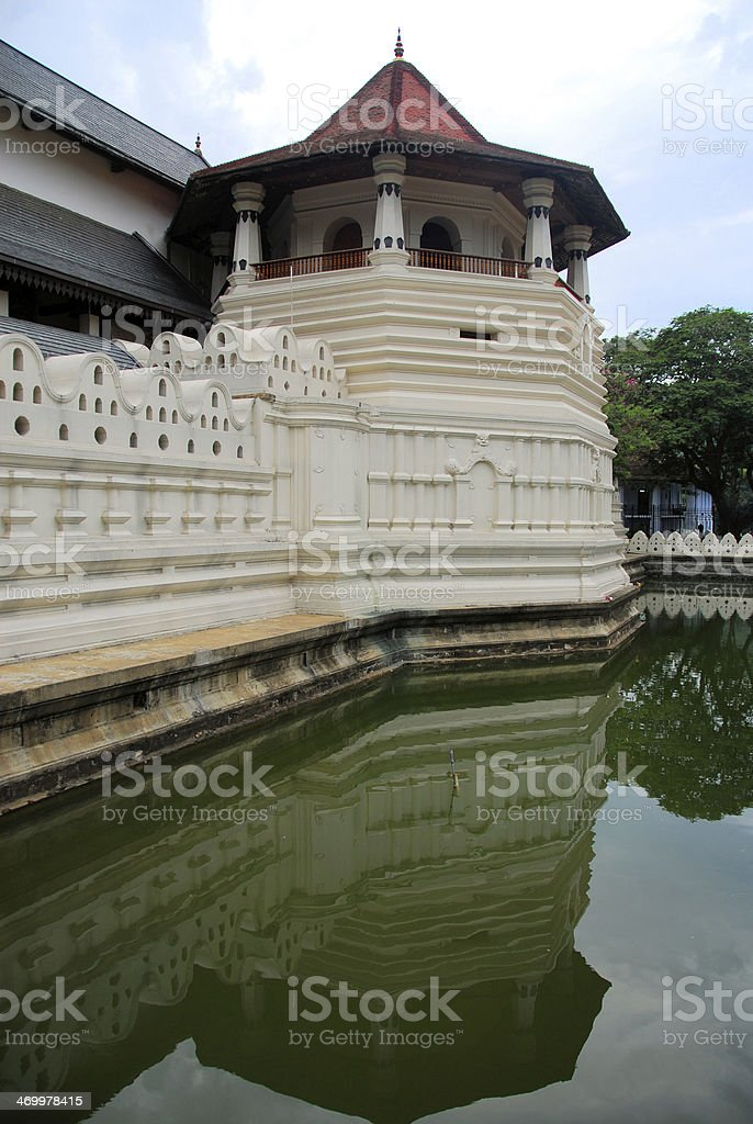 Moat - Temple of the Tooth in Kandy, Sri Lanka stock photo
