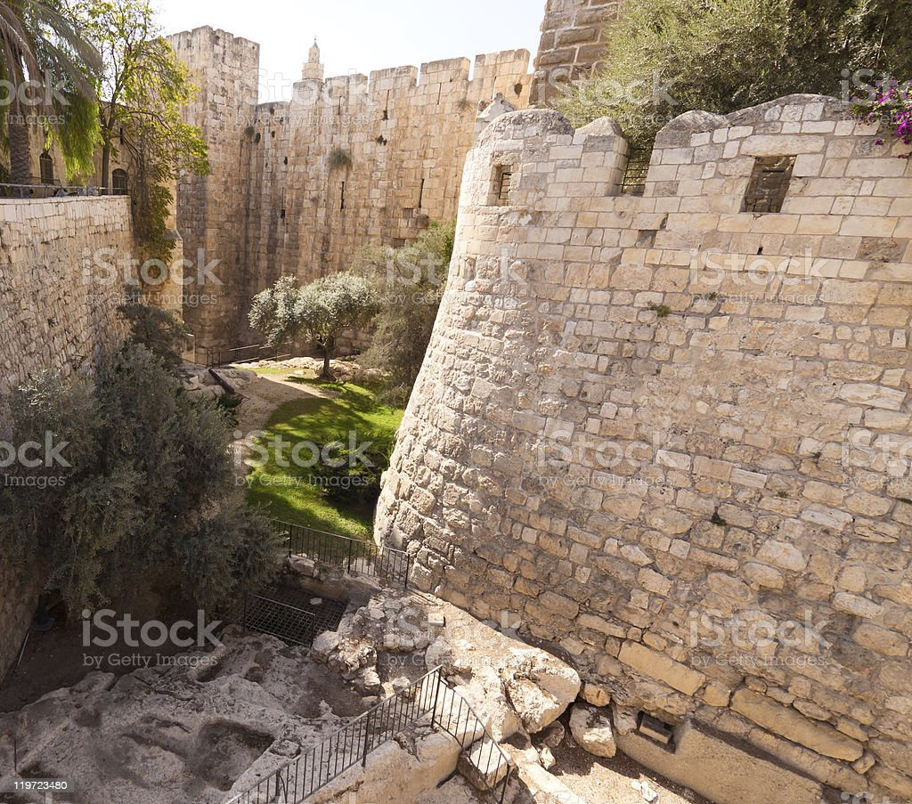 Moat tower of David royalty-free stock photo