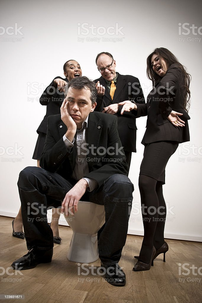 Mobbing Concept, Business People royalty-free stock photo