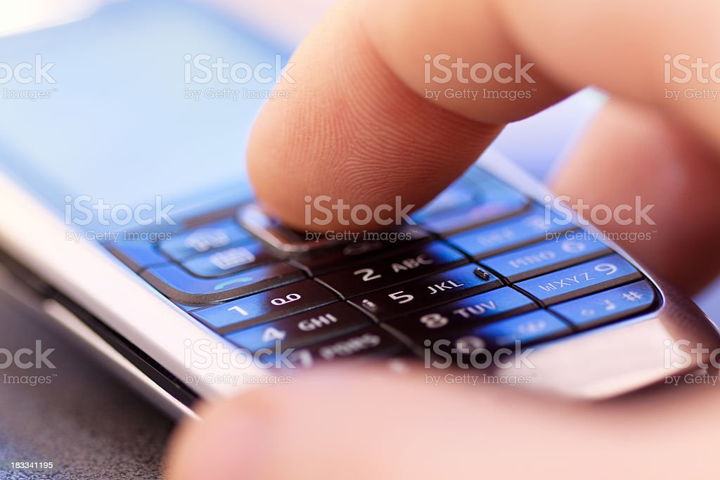 Mobie phone and hand royalty-free stock photo