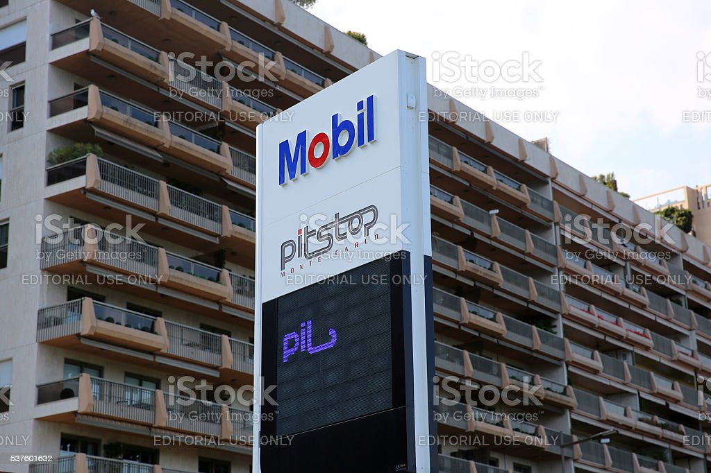Mobil Gas Station Sign stock photo