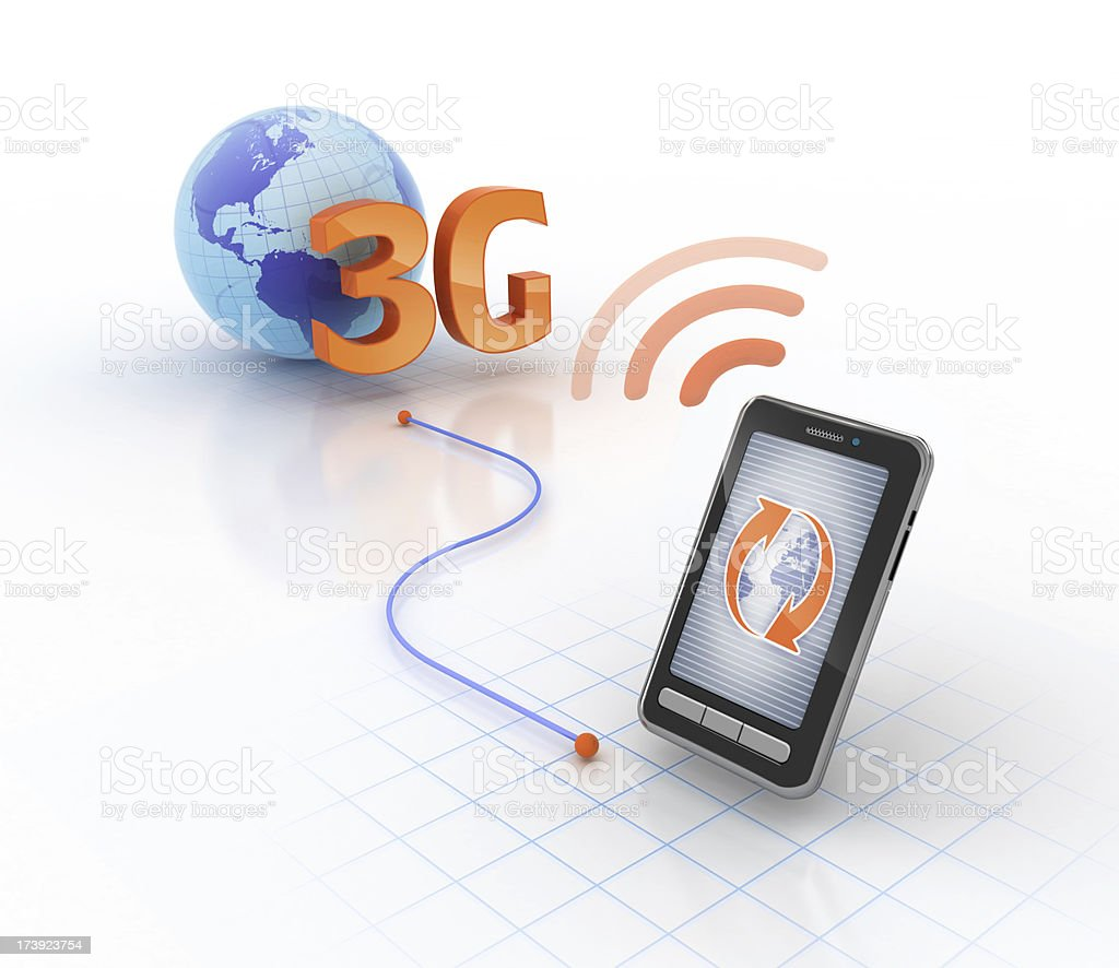 mobile 3G network stock photo
