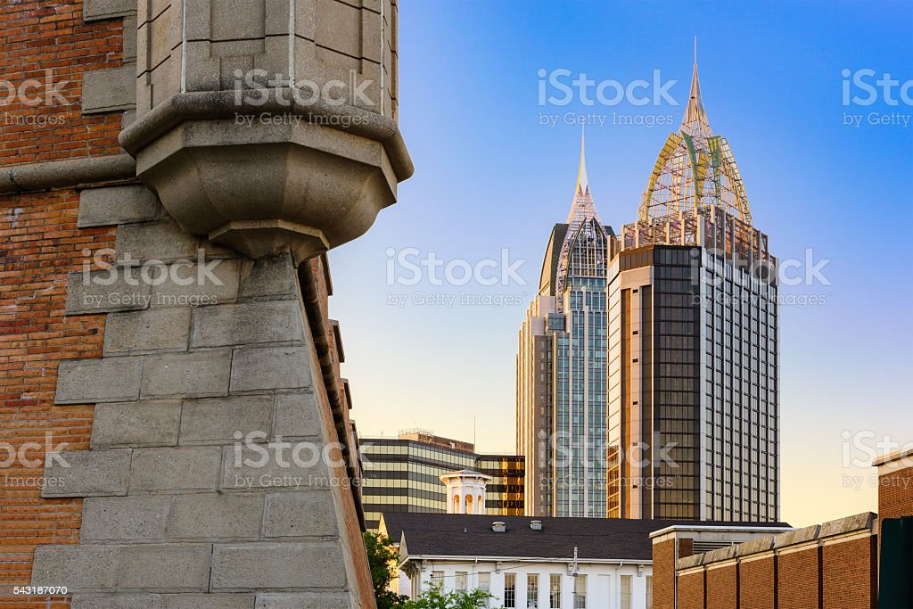 Mobile, Alabama Skyline stock photo
