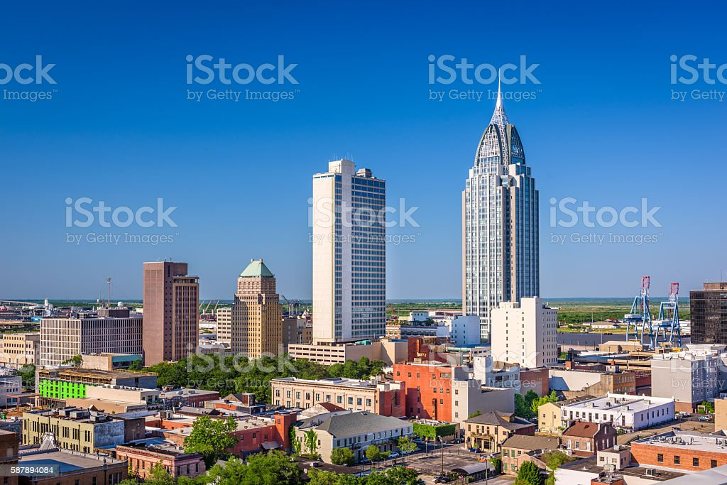 Mobile, Alabama Skyline stock photo