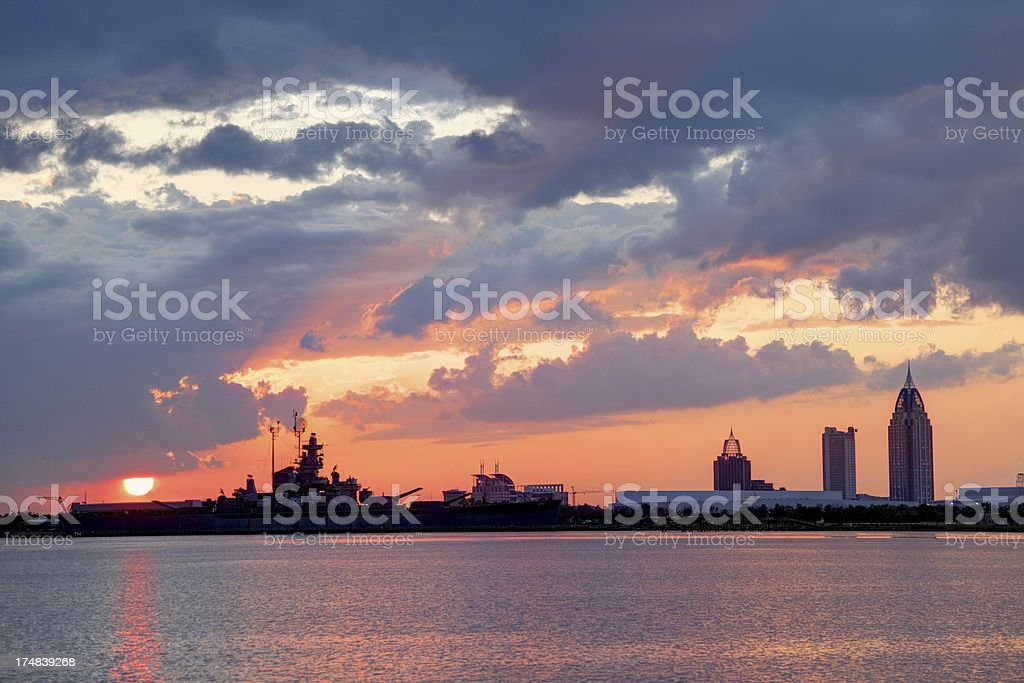 Mobile Alabama Sunset stock photo