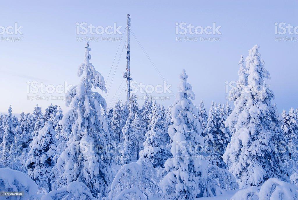 Mobile antenna royalty-free stock photo