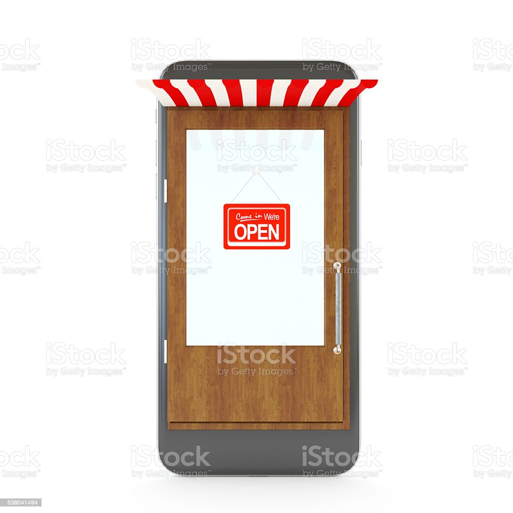 Mobile Application Software Concept stock photo