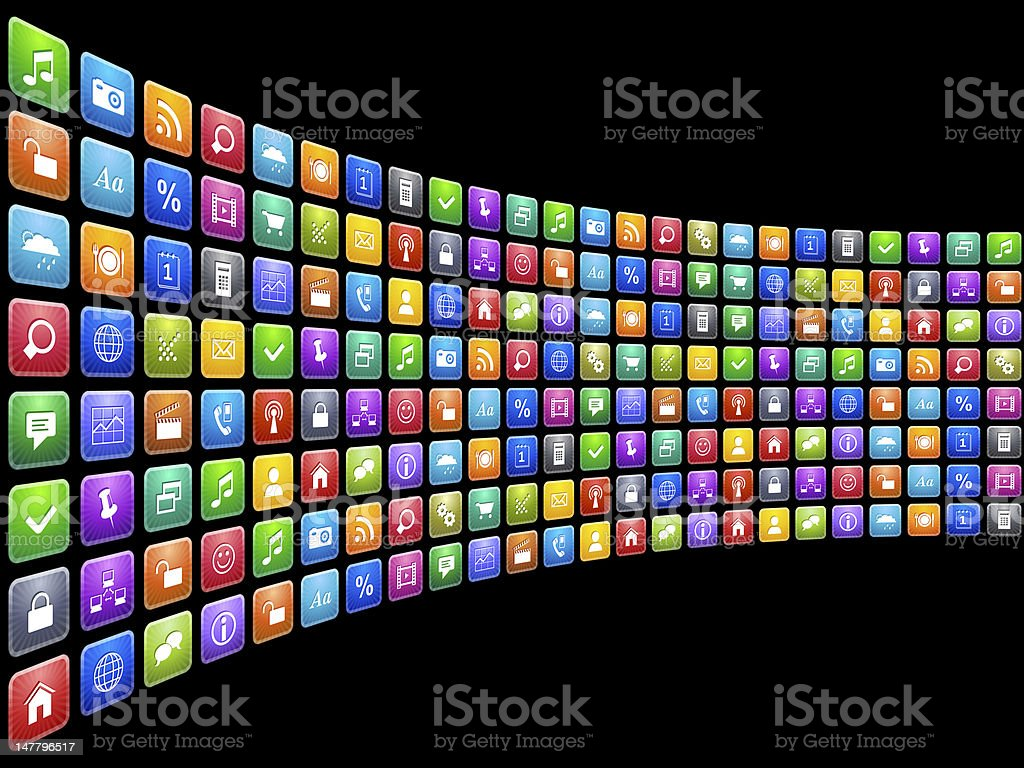 Mobile applications concept royalty-free stock photo