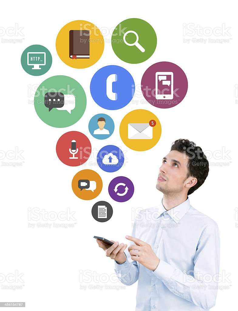Mobile apps concept stock photo