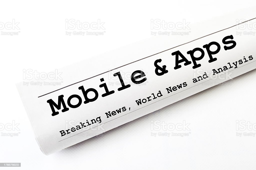 Mobile & Apps newspaper royalty-free stock photo
