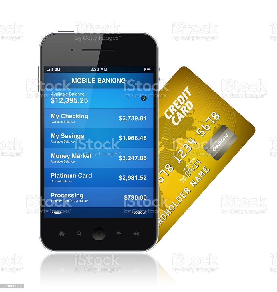 Mobile Banking Concept royalty-free stock photo