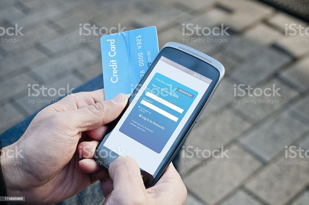 Mobile banking royalty-free stock photo
