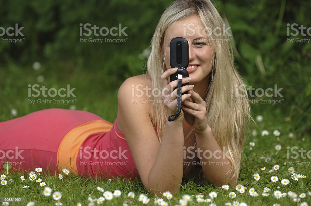 Mobile Beauty stock photo