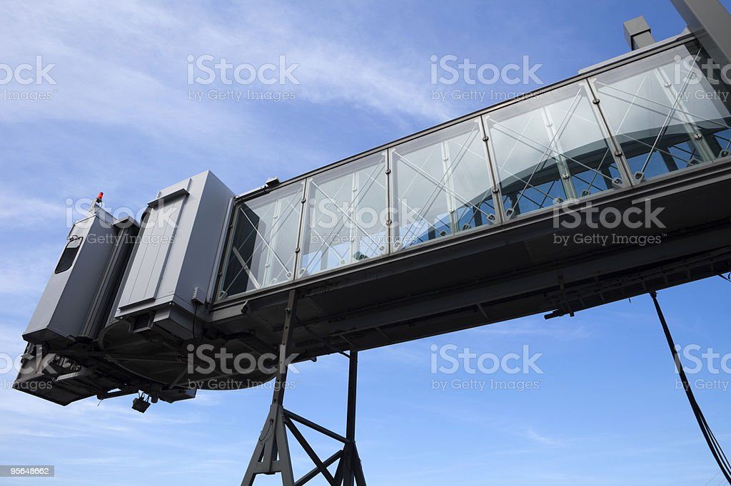 mobile boarding bridge at a passenger terminal royalty-free stock photo