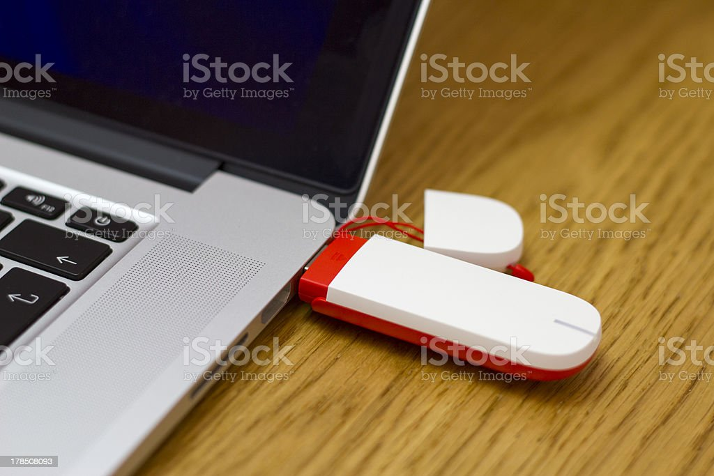 Mobile Broadband USB Internet dongle stock photo