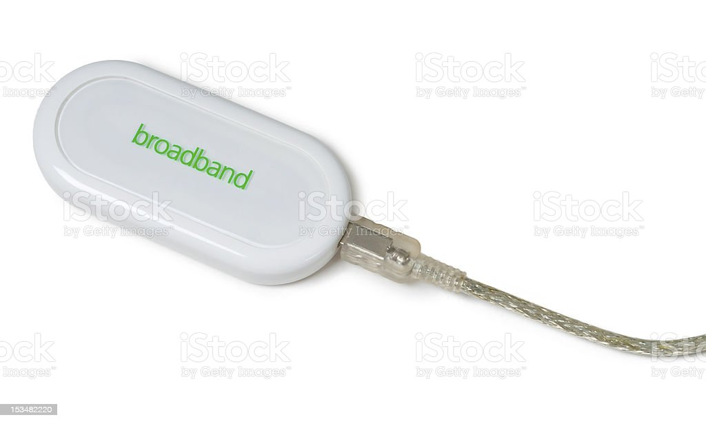 Mobile broadband modem stock photo