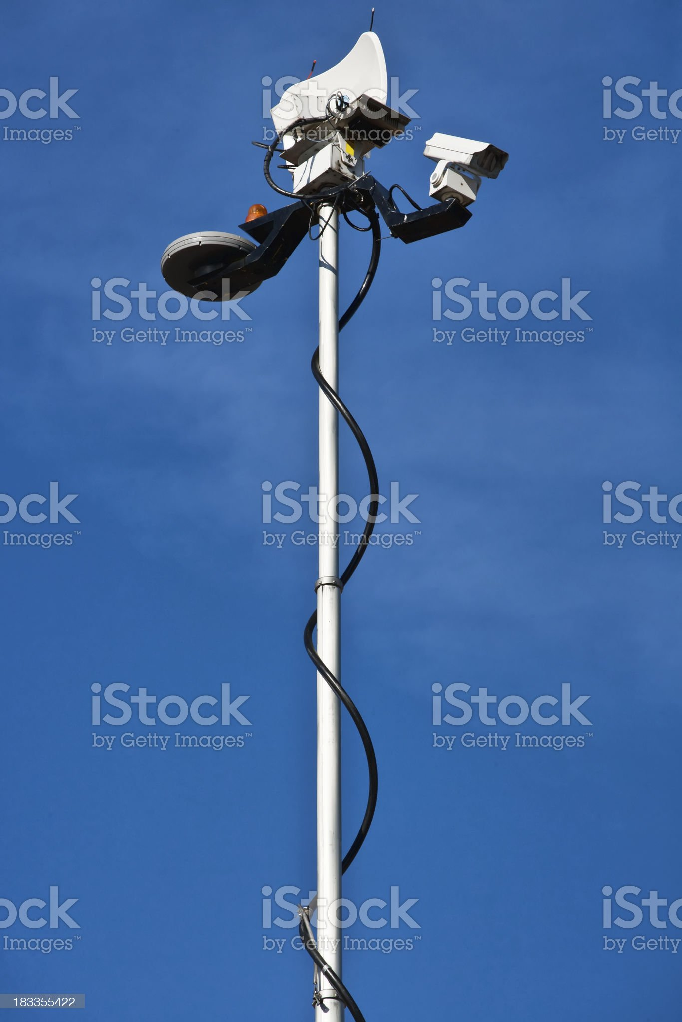 Mobile broadcast tower royalty-free stock photo
