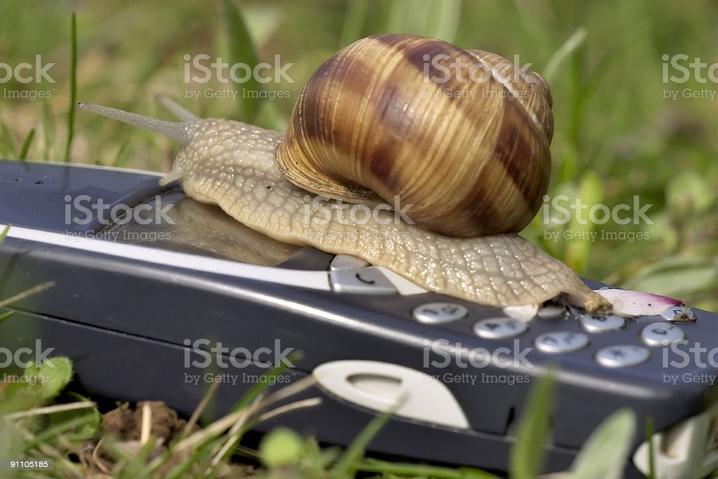 Mobile business is slow! royalty-free stock photo