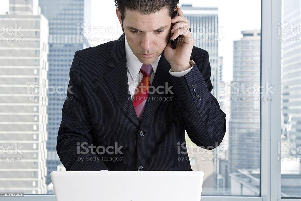Mobile Businessman stock photo