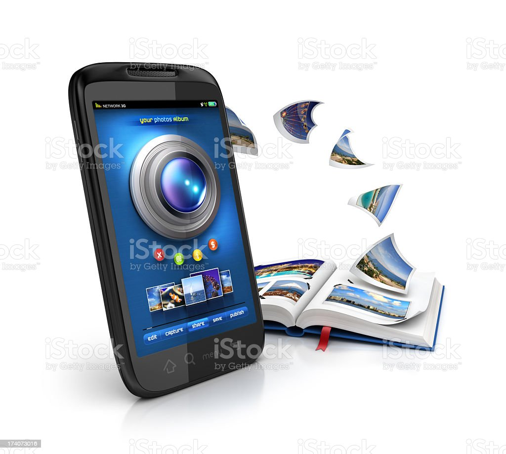 Mobile camera album stock photo
