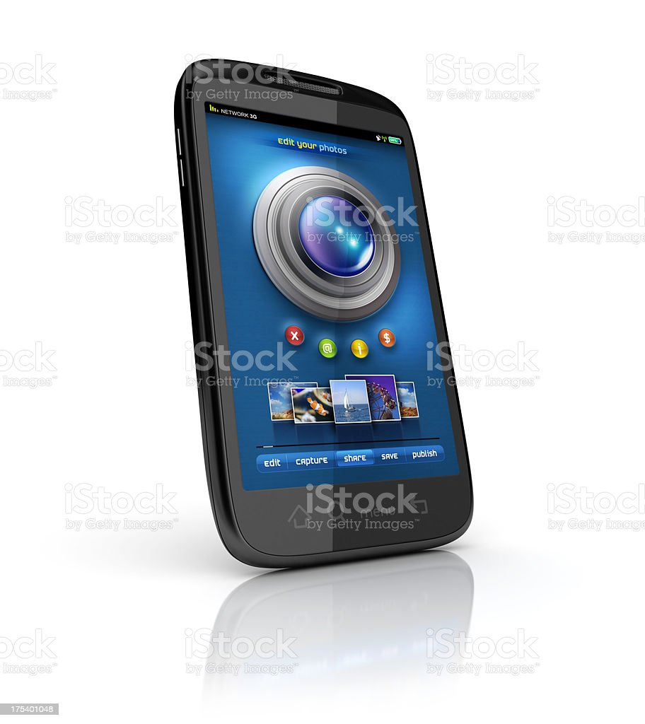 Mobile camera or photo gallery stock photo