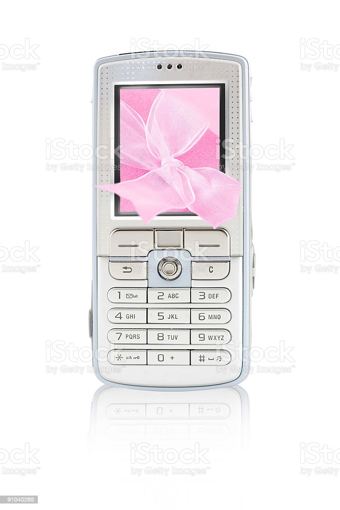 Mobile Cell Phone Gift royalty-free stock photo