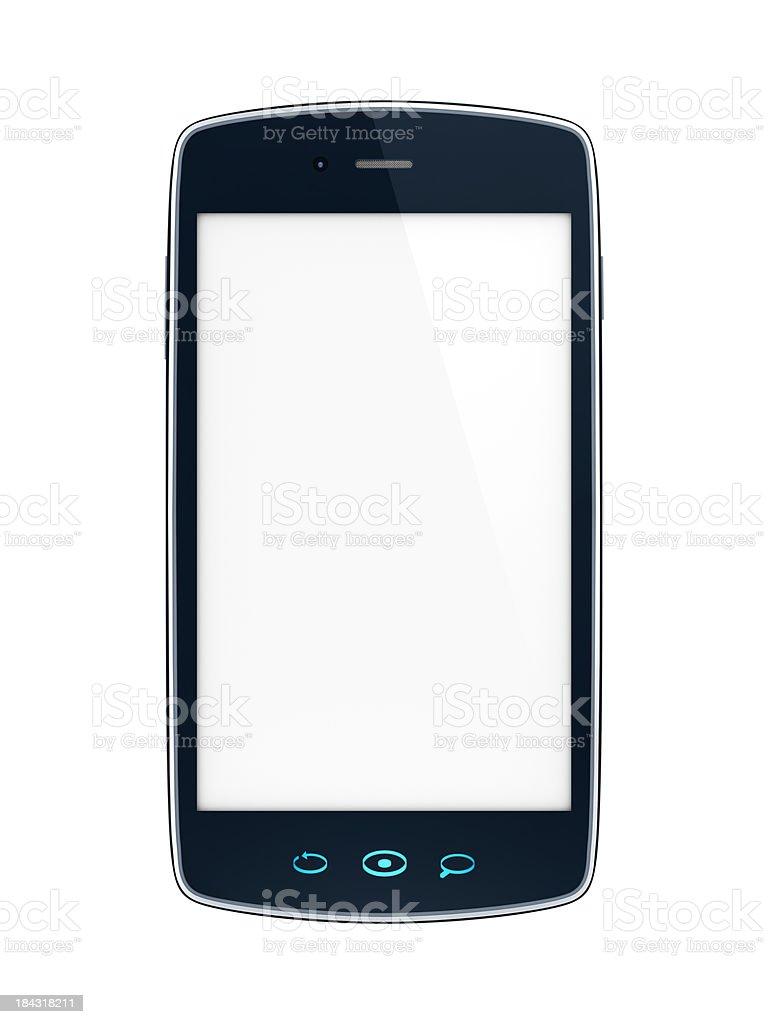 Mobile celular Smartphone com tela em branco-vista frontal foto royalty-free