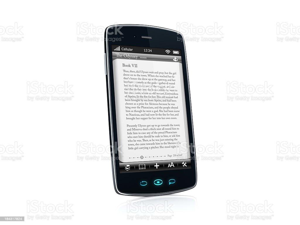 Mobile celular Smartphone com Reserve aplicativo VISTA LATERAL-ESQUERDO foto royalty-free