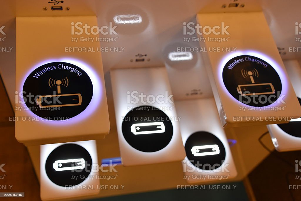 Mobile Charging Stand stock photo