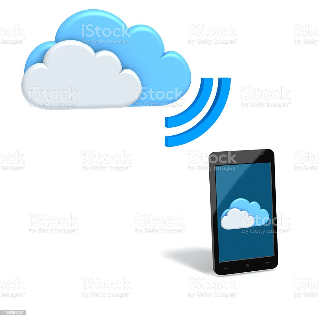 Mobile Cloud applications and services royalty-free stock photo
