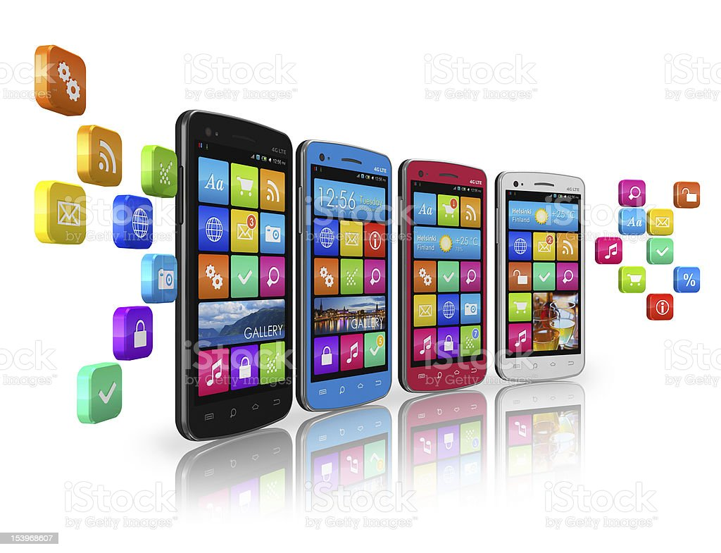Mobile communications and social networking concept royalty-free stock photo