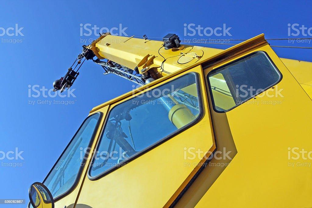 Mobile Construction Crane, Low Angle View stock photo