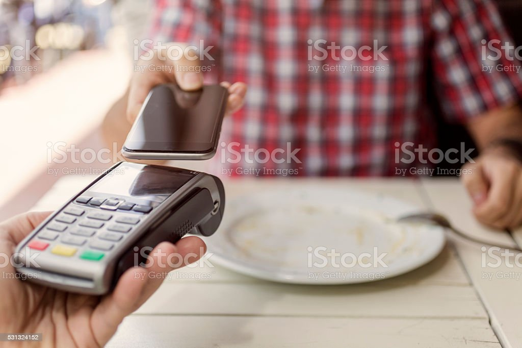 Mobile Contactless Payment stock photo
