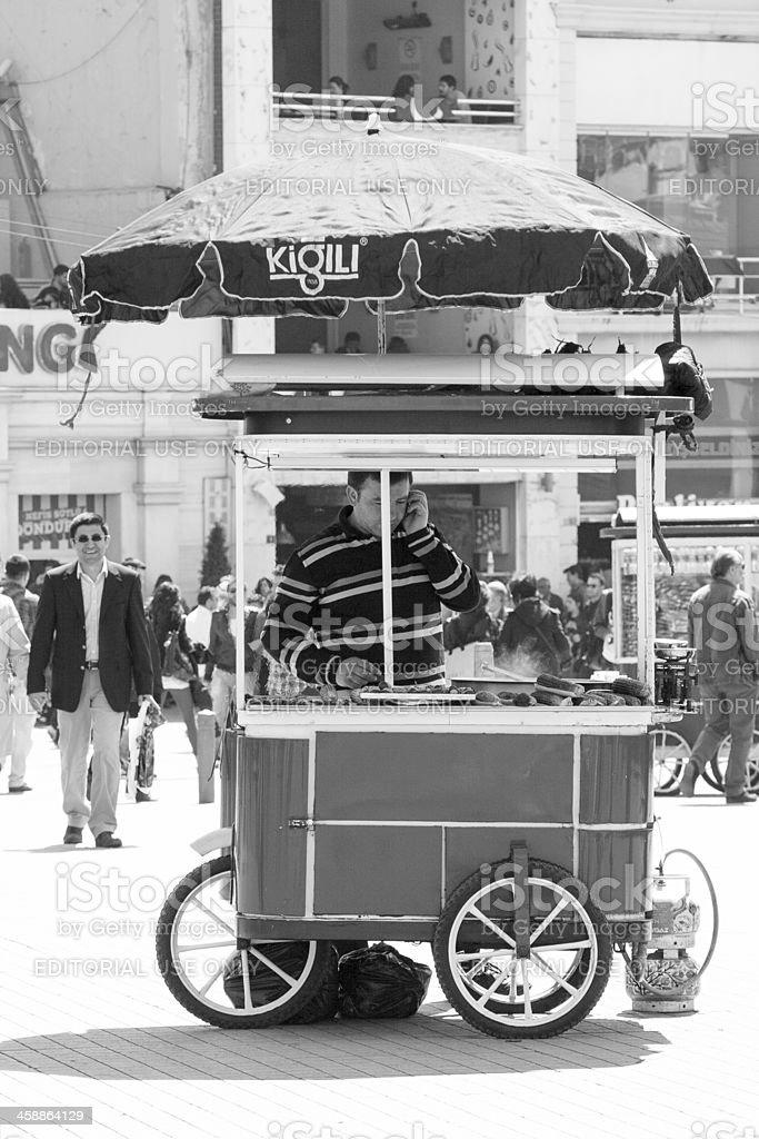 Mobile corn vendor, Istanbul royalty-free stock photo