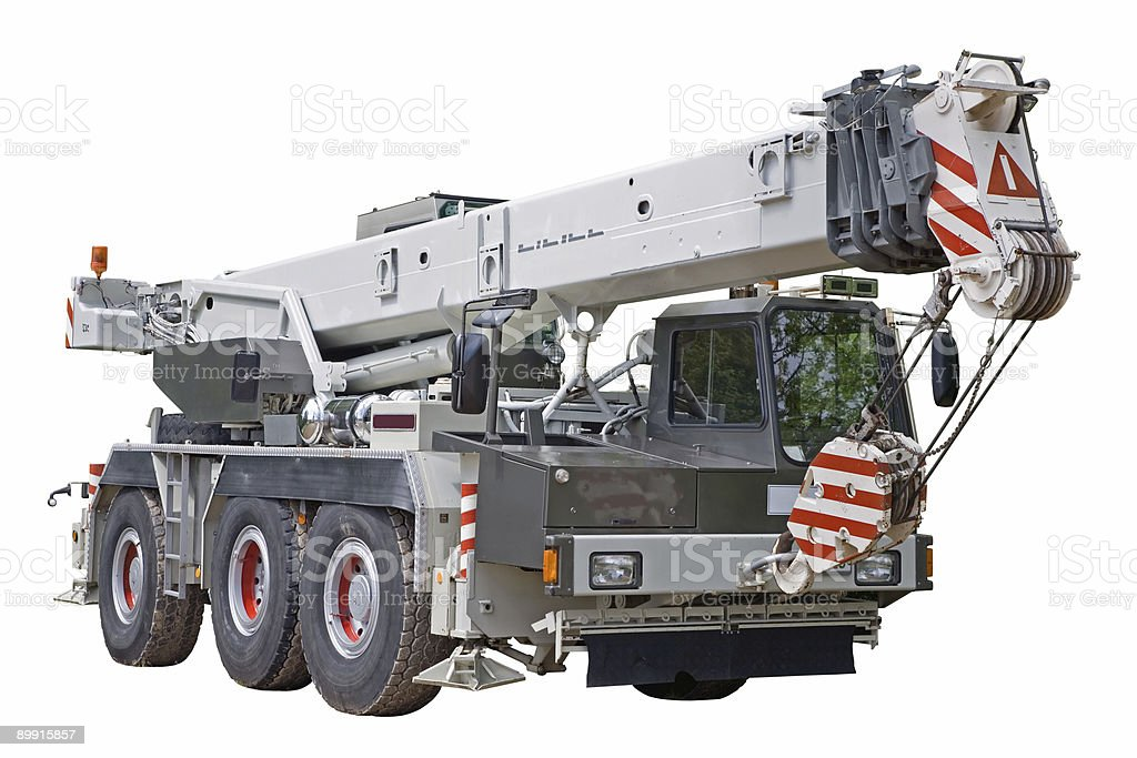 Mobile crane stock photo