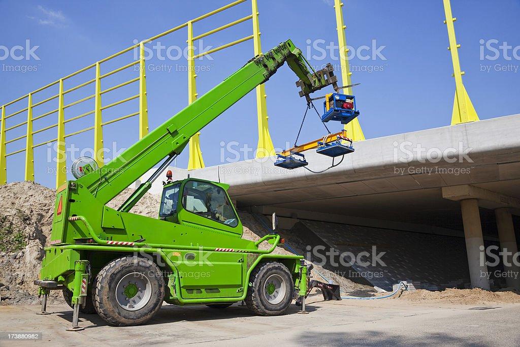 Mobile crane XXXL royalty-free stock photo