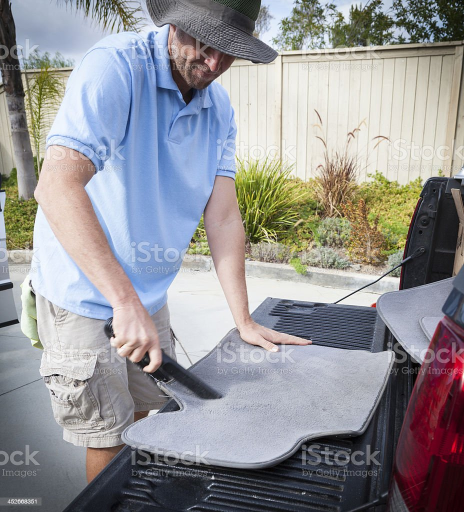 Mobile Detailing - vacuuming stock photo