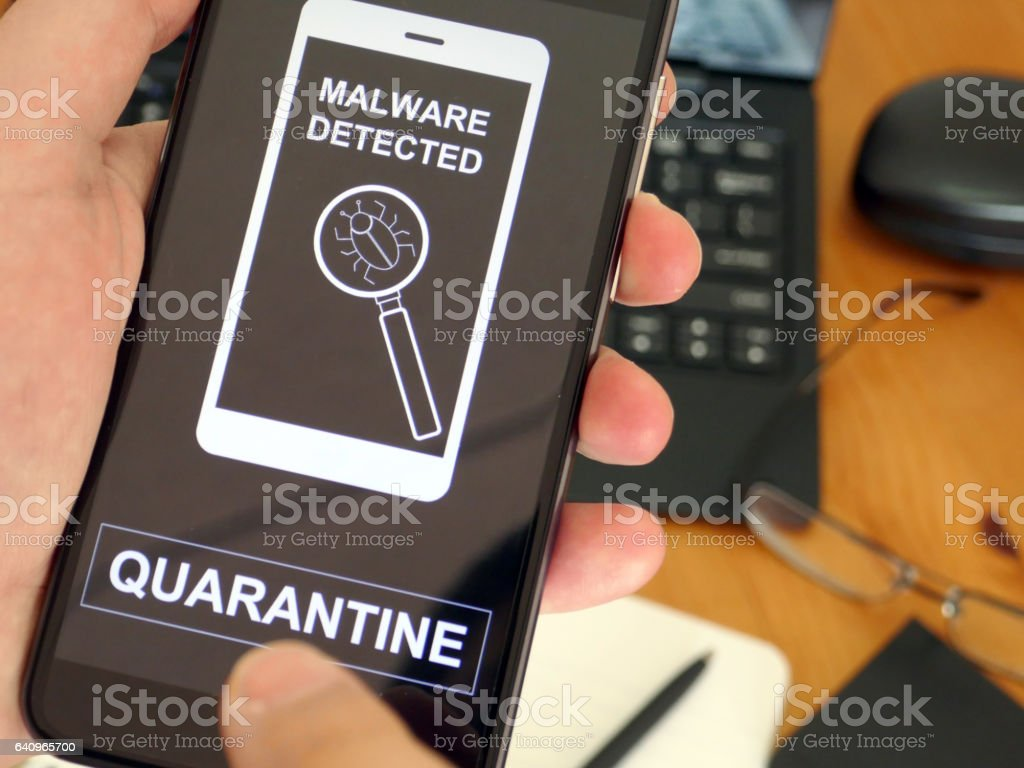 Mobile Devices Malware stock photo