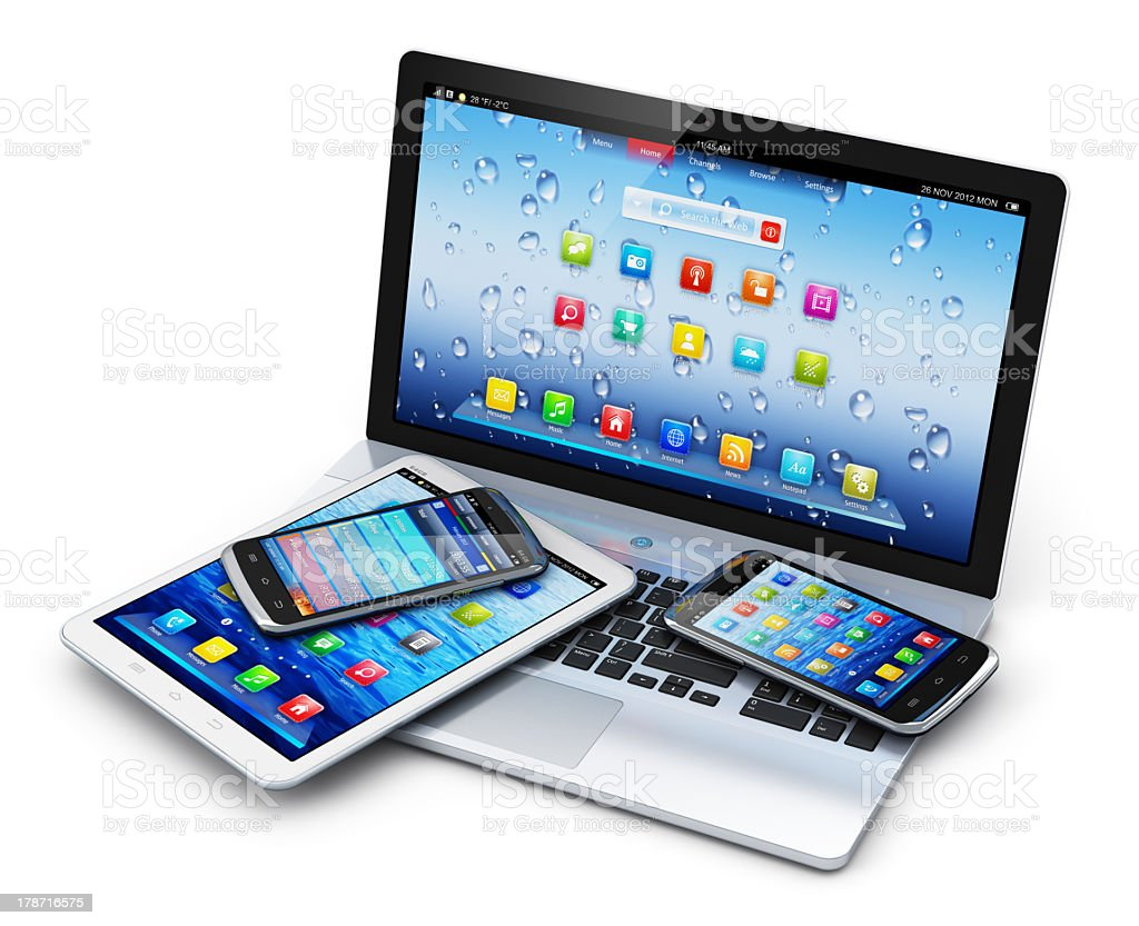 Mobile devices royalty-free stock photo