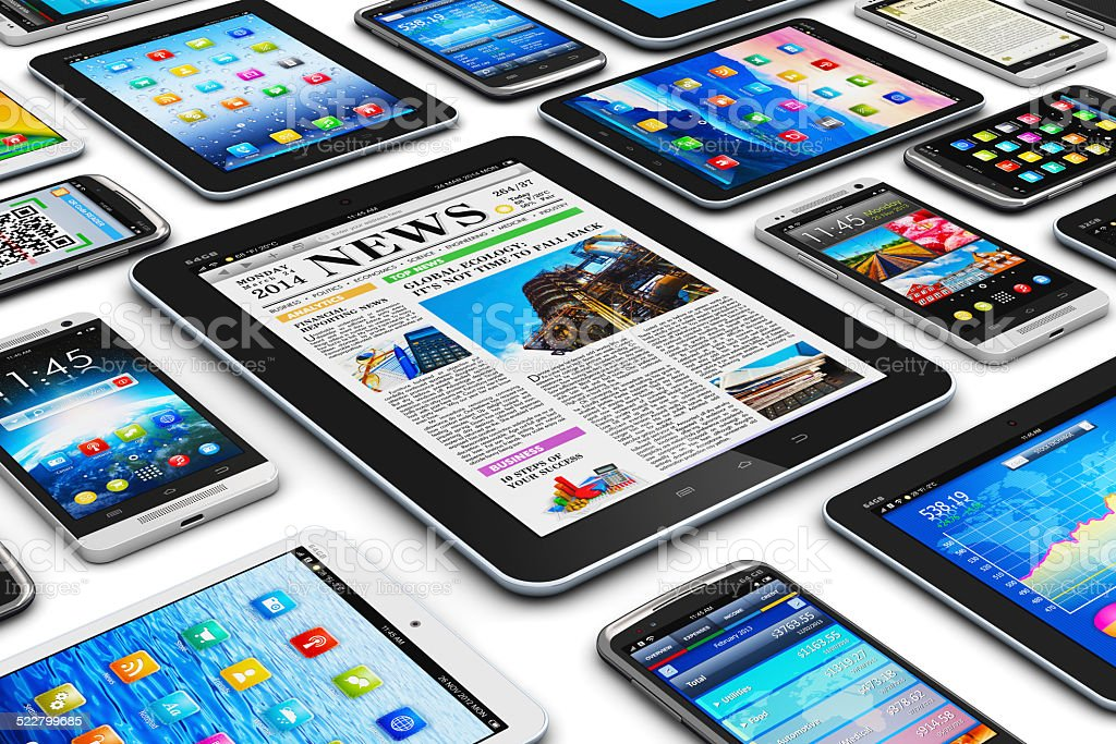 Mobile devices stock photo